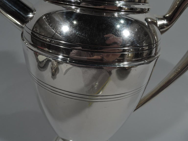 Antique American Art Deco Sterling Silver Cocktail Shaker For Sale 1