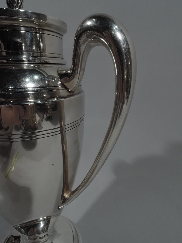 Antique American Art Deco Sterling Silver Cocktail Shaker For Sale 2