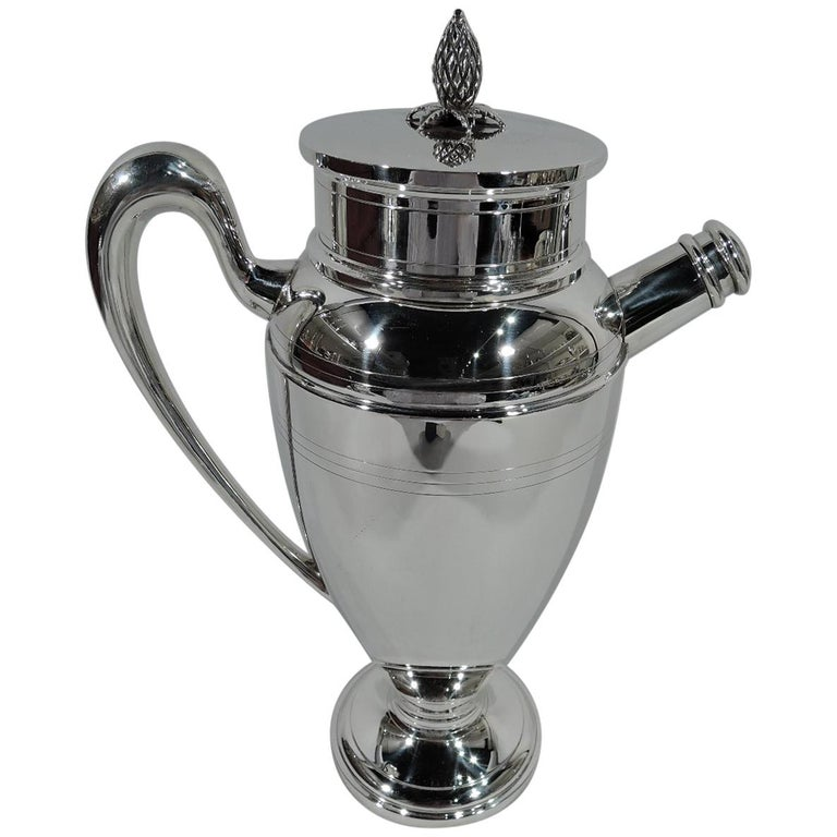 Antique American Art Deco Sterling Silver Cocktail Shaker For Sale