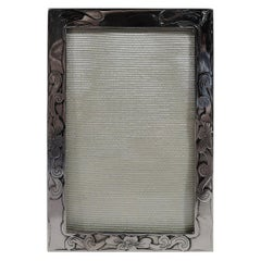 Antique American Art Nouveau Sterling Silver Boudoir Picture Frame