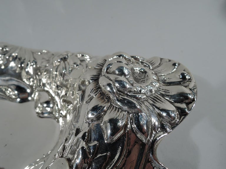 Antique American Art Nouveau Sterling Silver Bowl by Dominick & Haff In Excellent Condition For Sale In New York, NY