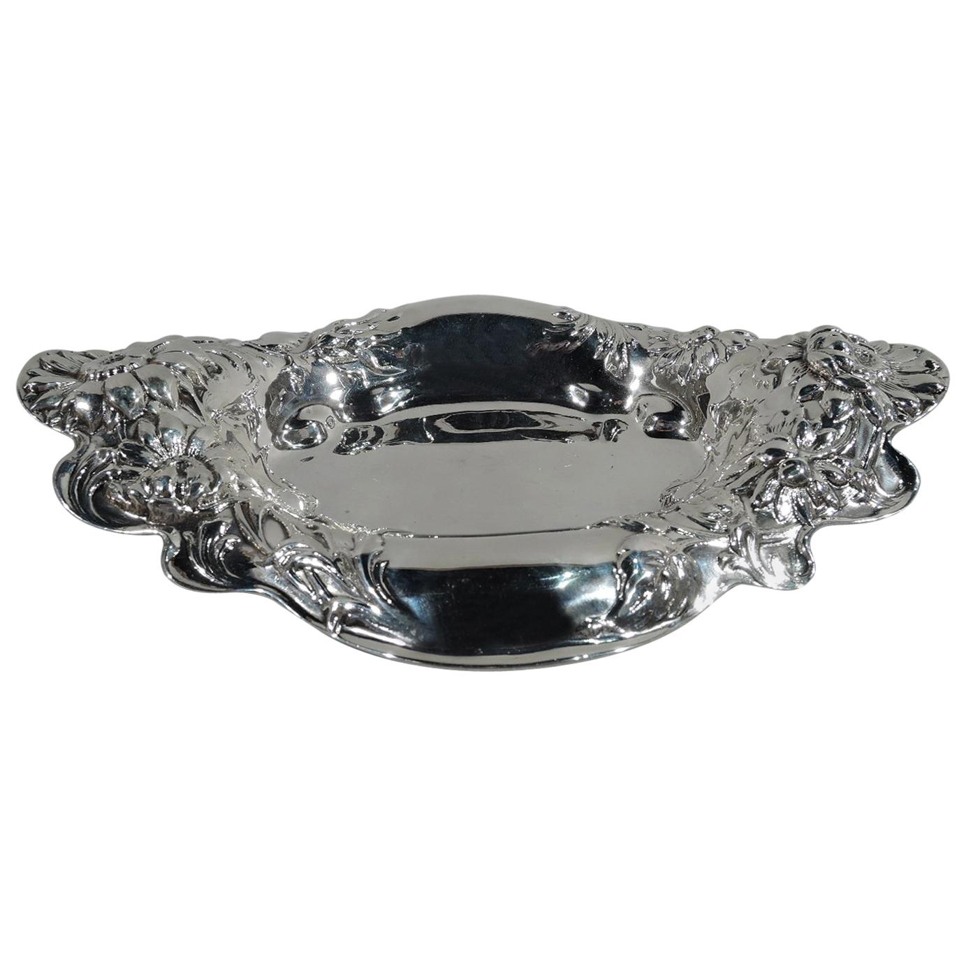 Antique American Art Nouveau Sterling Silver Bowl by Dominick & Haff