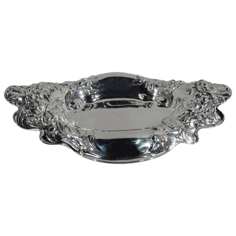 Antique American Art Nouveau Sterling Silver Bowl by Dominick & Haff For Sale
