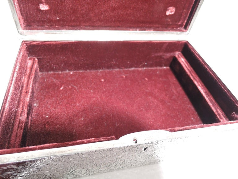Antique American Art Nouveau Sterling Silver Jewelry Box For Sale 3