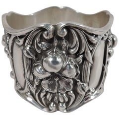 Antique American Art Nouveau Sterling Silver Napkin Ring