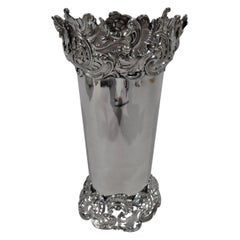 Antique American Art Nouveau Sterling Silver Vase