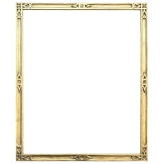 Antique American Arts & Crafts Carved Giltwood Frame, Braus Galleries