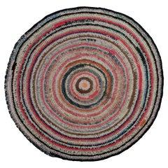 Antique American Braided Rug