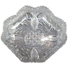 Antique American Brilliant Cut Glass Serving Bowl, 20th Century