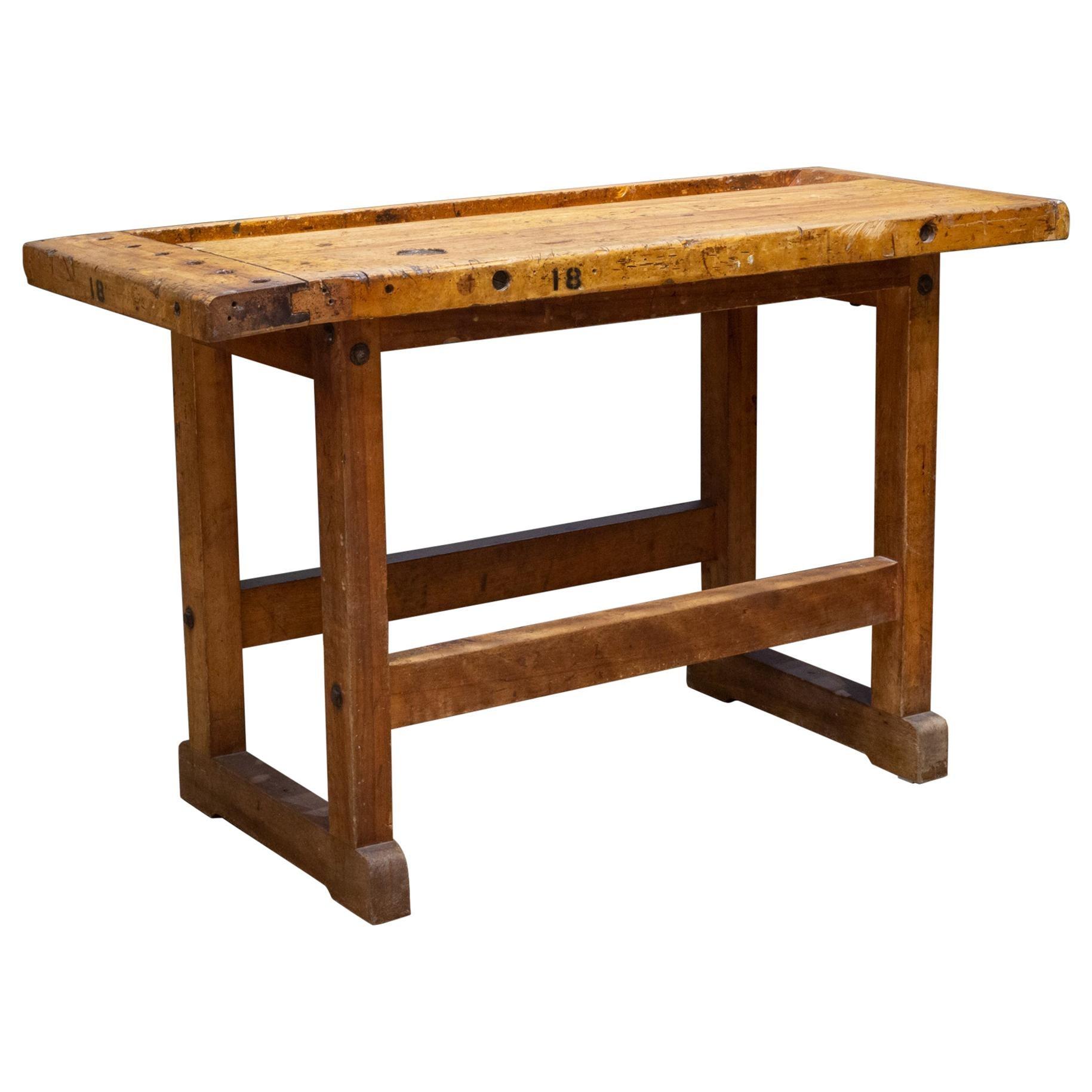 Antique American Carpenter's Workbench, circa 1900