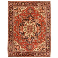 Antique American Chenille Rug. Size: 4 ft 7 in x 6 ft (1.4 m x 1.83 m)