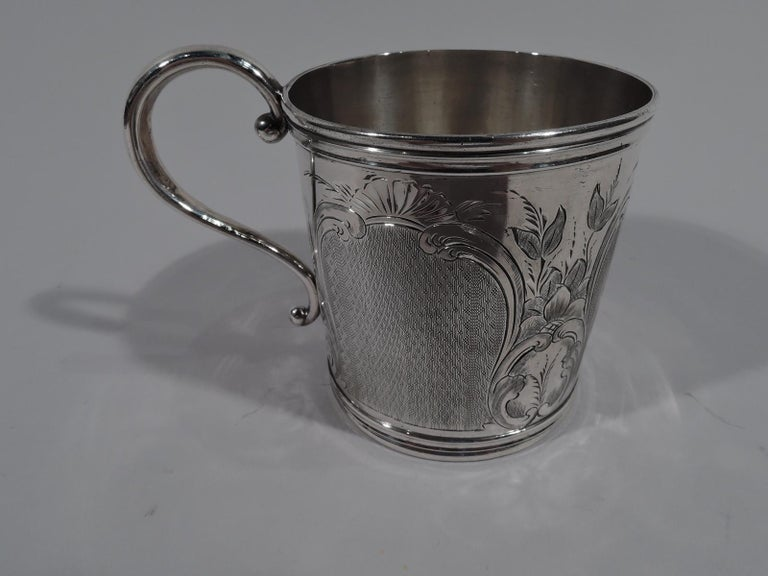 North American Antique American Classical Coin Silver Baby Cup For Sale