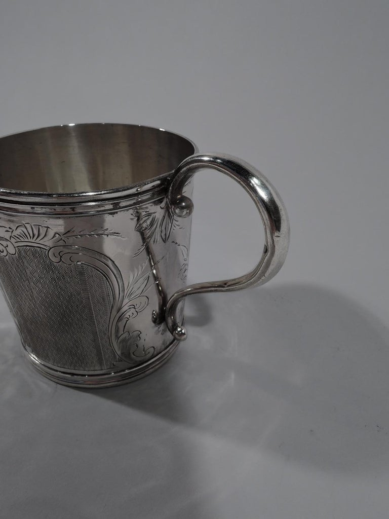 Antique American Classical Coin Silver Baby Cup In Good Condition For Sale In New York, NY