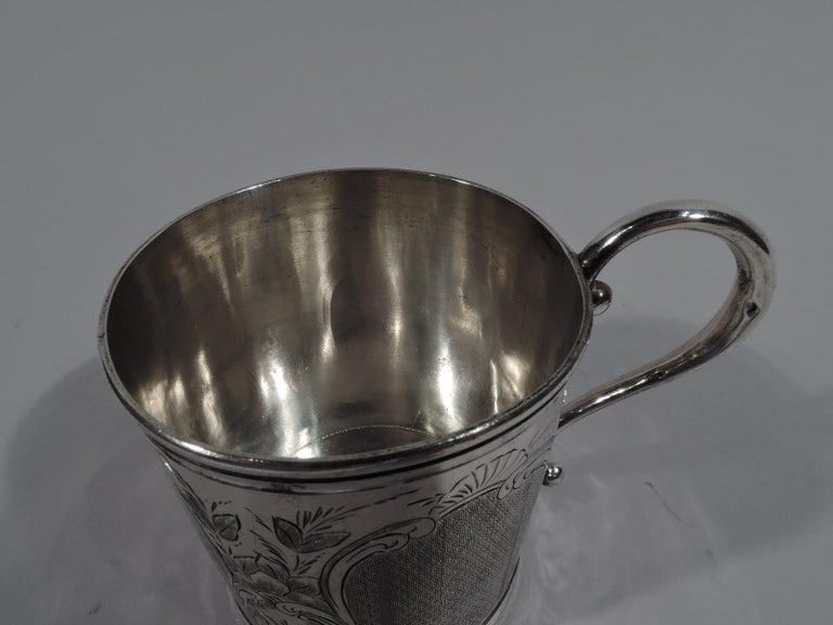 19th Century Antique American Classical Coin Silver Baby Cup For Sale