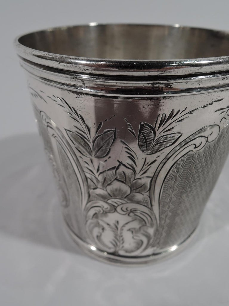 Antique American Classical Coin Silver Baby Cup For Sale 1