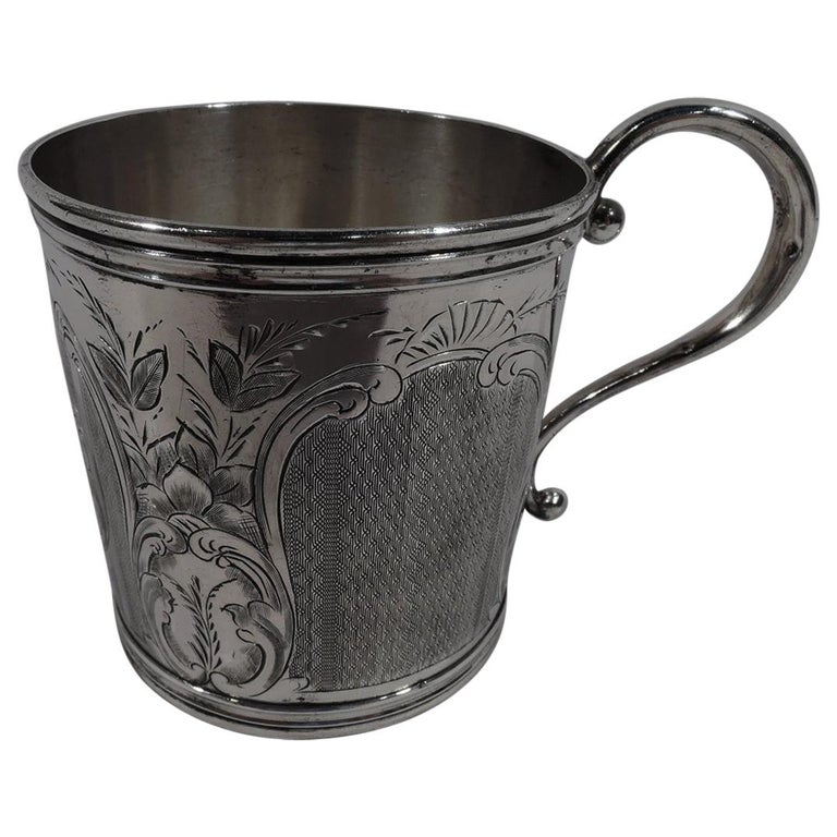 Antique American Classical Coin Silver Baby Cup For Sale