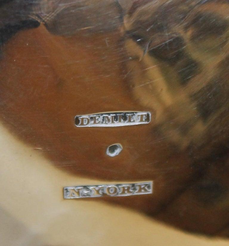 Antique American Coin Silver Rococo Style Four Piece Tea Set, Andrew de Milt, NY For Sale 4
