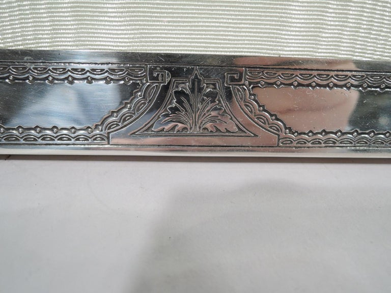 20th Century Antique American Edwardian Classical Sterling Silver Picture Frame For Sale