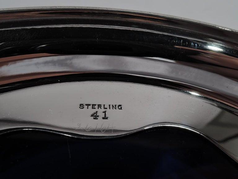 Antique American Edwardian Pierced Sterling Silver Basket Box For Sale 5