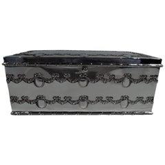Antique American Edwardian Regency Sterling Silver Jewelry Box