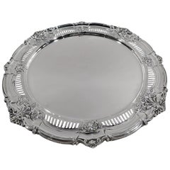 Antique American Edwardian Sterling Silver Cake Plate