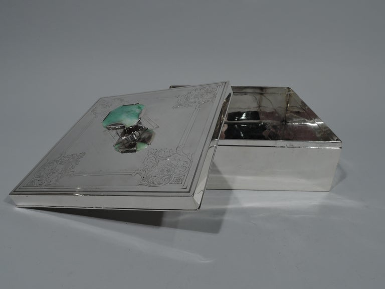 Antique American Edwardian Sterling Silver Keepsake Box In Excellent Condition For Sale In New York, NY