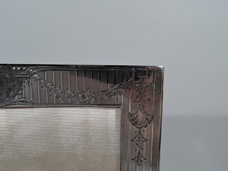 20th Century Antique American Edwardian Sterling Silver Picture Frame For Sale