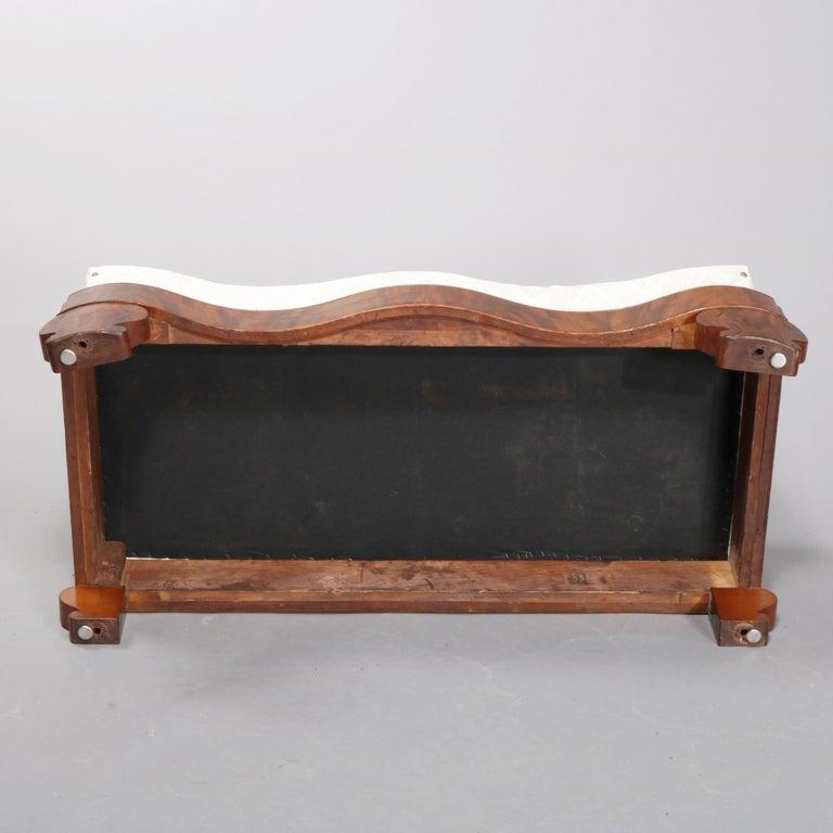 American Empire Classical Serpentine Flame Mahogany Slipper Bench, circa 1840 For Sale 2