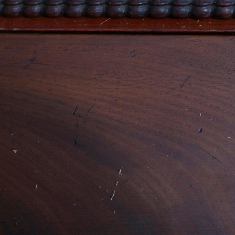 Antique American Empire Flame Mahogany Bookcase Secretary, circa 1840 4