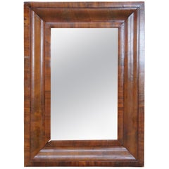 Antique American Empire Flame Mahogany Rectangular Wall Vanity Mirror