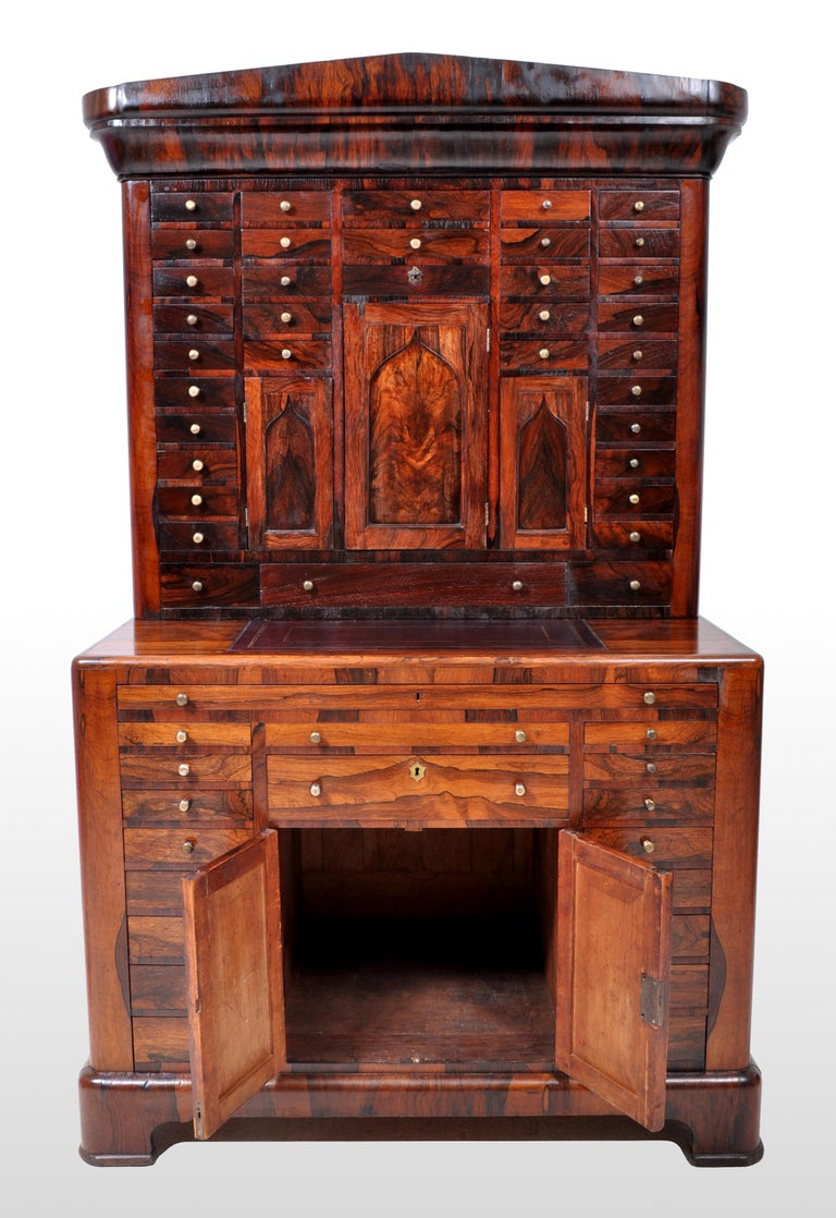 Antique American Empire Rosewood Dental / Medical Cabinet, circa 1820 For Sale 9