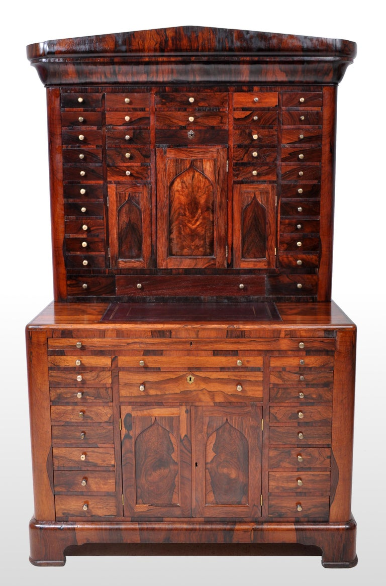 19th Century Antique American Empire Rosewood Dental / Medical Cabinet, circa 1820 For Sale