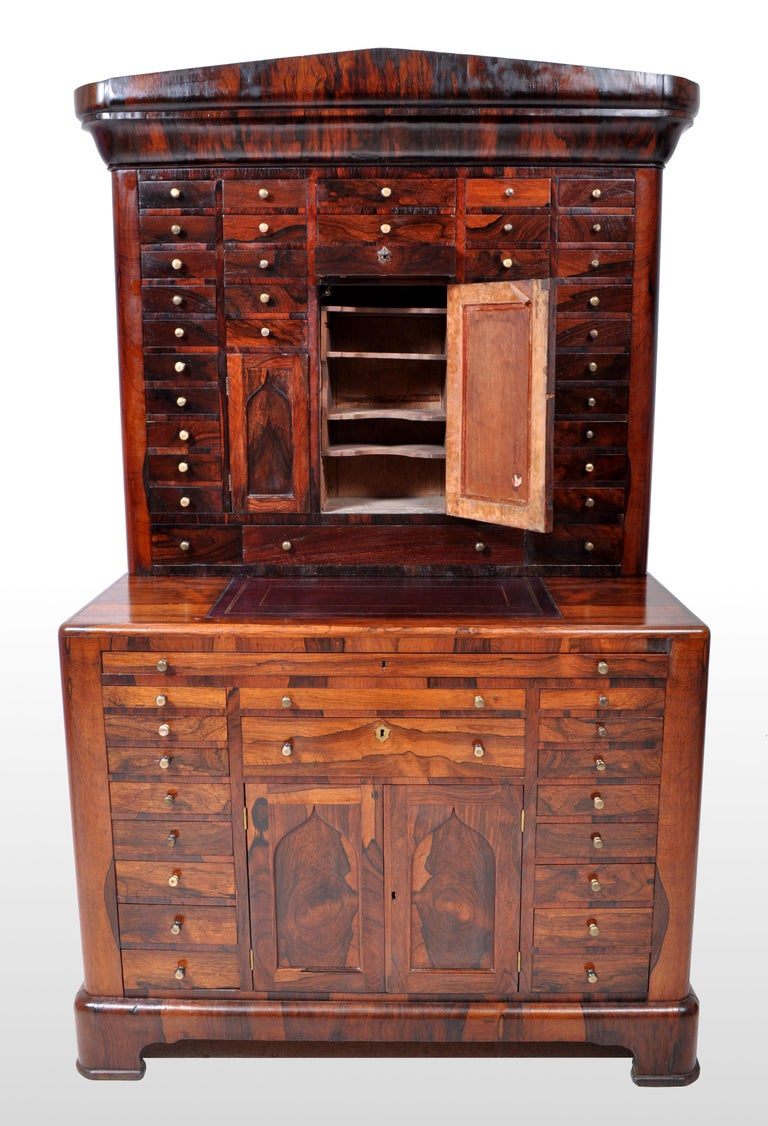 Antique American Empire Rosewood Dental / Medical Cabinet, circa 1820 For Sale 3
