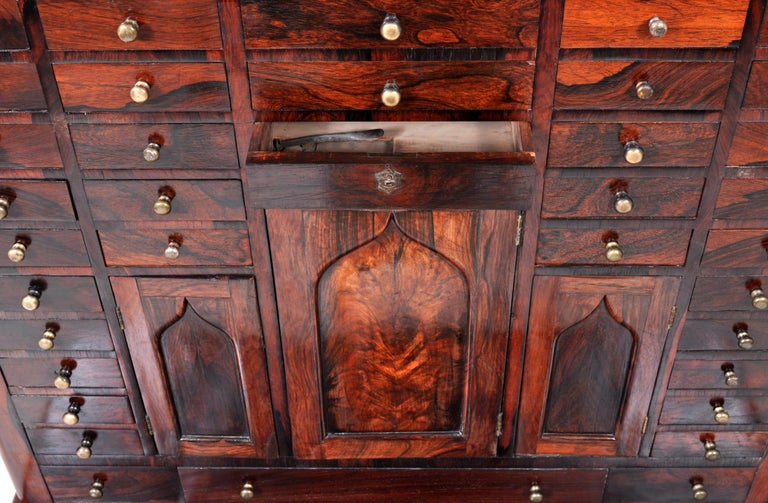 Antique American Empire Rosewood Dental / Medical Cabinet, circa 1820 For Sale 5