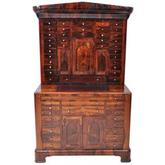 Antique American Empire Rosewood Dental / Medical Cabinet, circa 1820