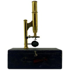 "Antique American ""Ernst Gundlach"" Field Microscope with Carrying Case circa 1900"