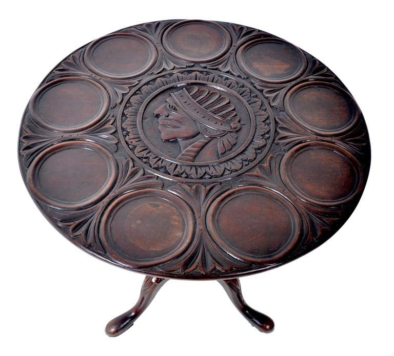 Antique American Federal Mahogany Tilt-Top Supper Table, circa 1790 For Sale 3