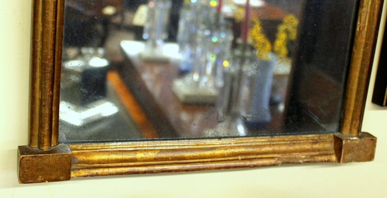 Antique American Federal Signed Period Giltwood and Eglomisé Diminutive Mirror For Sale 13