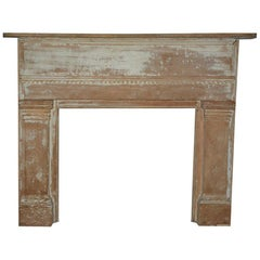 Antique American Federal Style Wood Fireplace Mantle