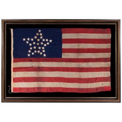 "Antique American Flag with 31 Stars Arranged in the ""Great Star"" Pattern"