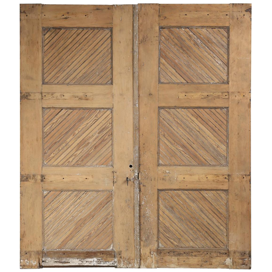 Antique American Garage or Barn Doors, circa 1890s