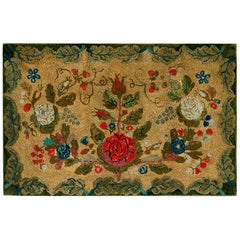 Antique American Hooked Rug