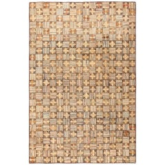 Antique American Hooked Rug. Size: 8 ft. 2 in x 12 ft. 10 in (2.49 m x 3.91 m)