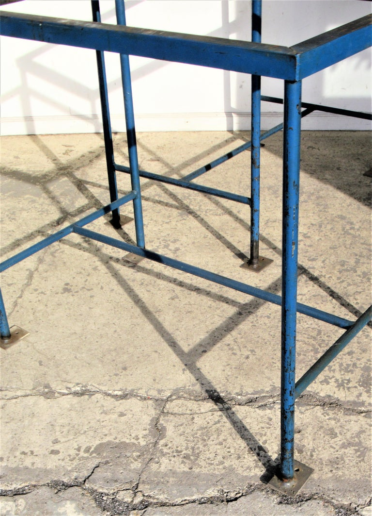 Antique American Industrial Architectural Iron Tables For Sale 3