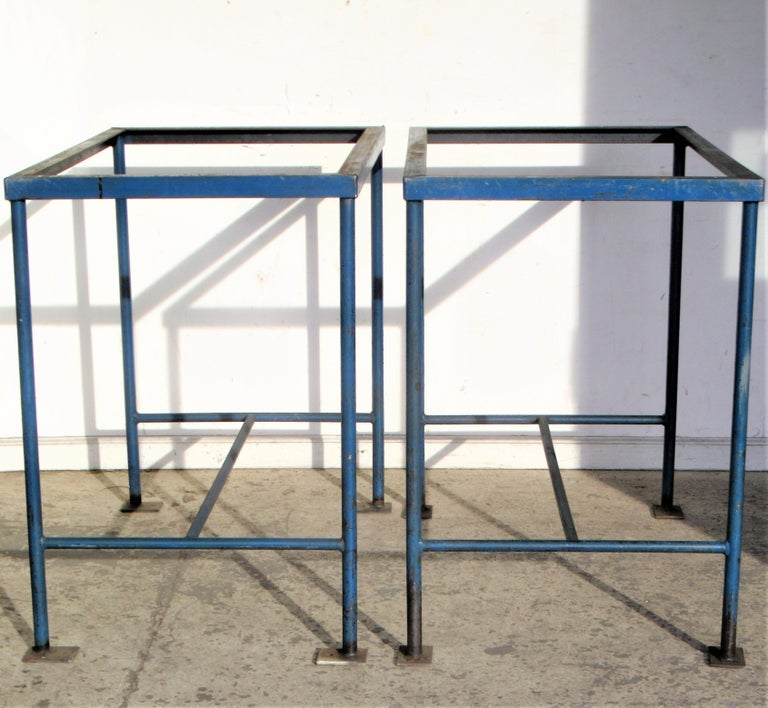 Antique American Industrial Architectural Iron Tables For Sale 4