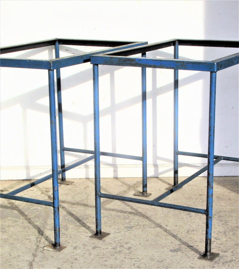 Antique American Industrial Architectural Iron Tables For Sale 5