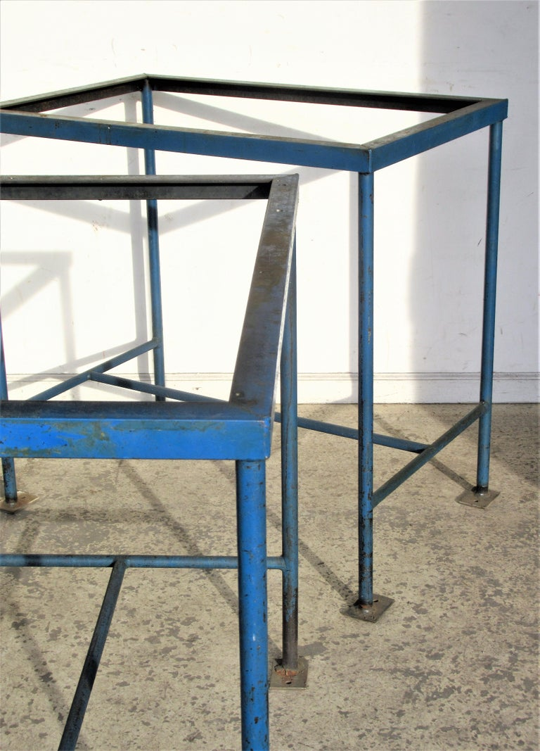 Antique American Industrial Architectural Iron Tables For Sale 6