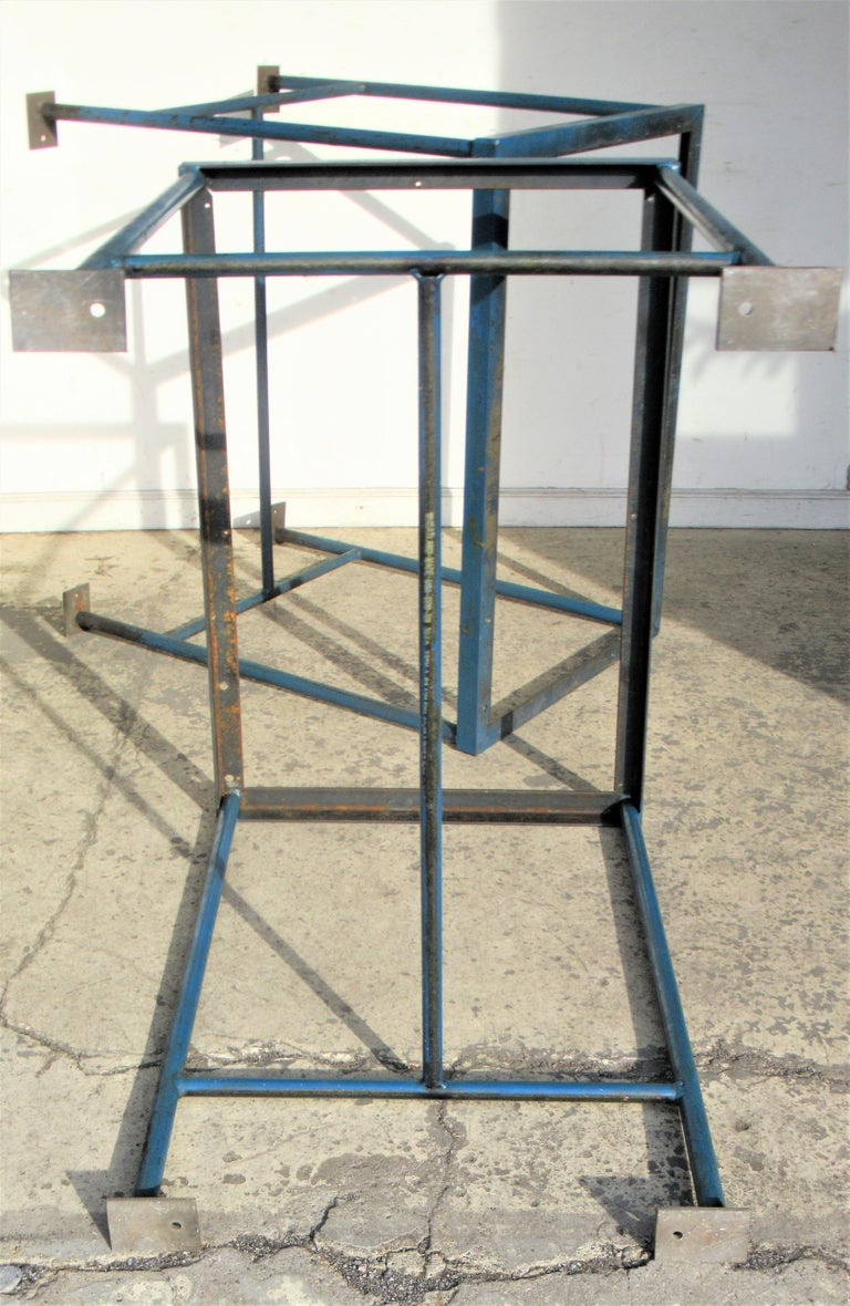 Antique American Industrial Architectural Iron Tables For Sale 8