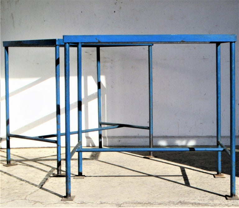 Antique American Industrial Architectural Iron Tables For Sale 9