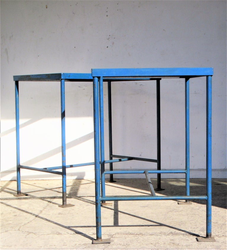 North American Antique American Industrial Architectural Iron Tables For Sale